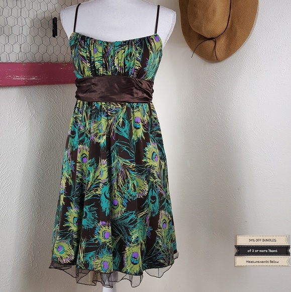 Ruby Rox Dresses & Skirts - Like New! Ruby Rox Peacock Tie Back Dress